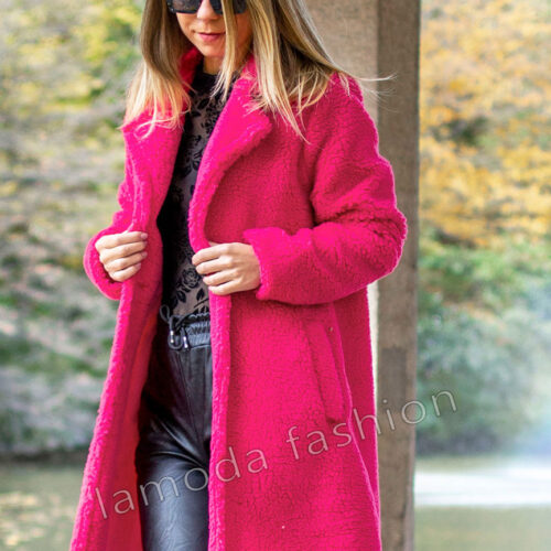 TEDDY COAT PINK